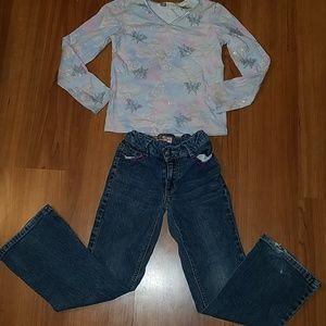 Little girls pants and shirt